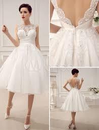 milanoo robe de mari e ivory beaded lace wedding dress with neck sequins