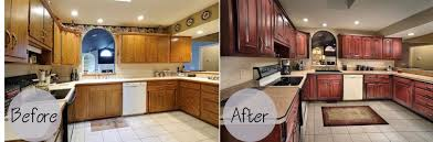 Cabinet Door Refinishing Kitchen Kitchen Cabinet Refacing Before And After With Raleigh