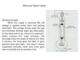 Mercury Vapor Lights Electrical Lamps And Their Types