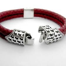 leather bracelet clasps images Silver scottie clasp bracelet braided leather scottish terrier jpg