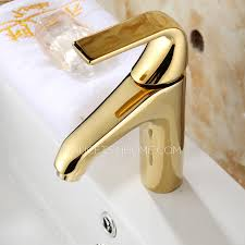 Gold Bathroom Faucet by Smooth Polished Brass Gold Bathroom Faucets One Handle