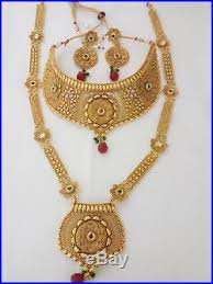 gold har set indian fashion jewelry bridal necklace har ethnic