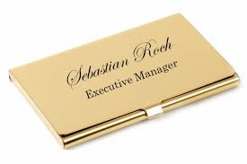 Personalized Business Cards Personalized Gold Business Card Holder Case Custom Engraved