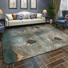 Peacock Area Rug Winlife European Style Peacock Feather Carpets Colorful Geometric
