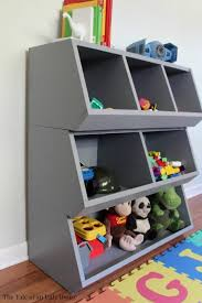 How To Build A Simple Wooden Toy Box by Remodelaholic How To Build A Toy Cubby Shelf Boy U0027s Room Makeover