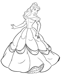 disney coloring pages belle drawings disney coloring