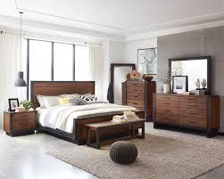 Acacia Bedroom Furniture by Scott Living Ellison 205241 Rustic Modern Industrial Platform Bedroom
