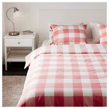 Red Gingham Duvet Cover Emmie Ruta Duvet Cover And Pillowcase S Twin Ikea