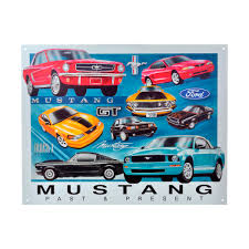 tin sign ford mustang chronology mast general store