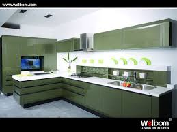 Finished Kitchen Cabinets High Gloss Lacquer Finish Kitchen Cabinets Free Ral Dusty Grey