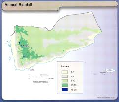 Rainfall Totals Map Nationmaster Maps Of Yemen 28 In Total