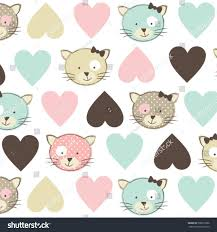 beautiful childish pattern cat wrapping stock vector