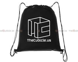 thecubicle us cubicle drawstring backpack cube storage and display