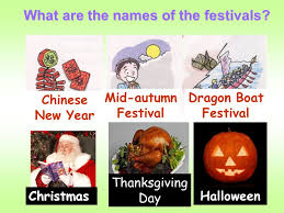 unit 3 let s celebrate what are the names of the festivals
