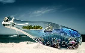 abstract sea sailing ships walldevil