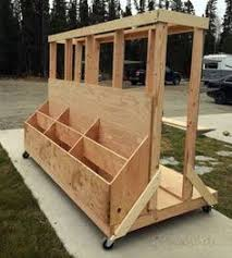 Mobile Lumber Storage Rack Plans by Easy Portable Lumber Rack Free Diy Plans Lumber Rack Free And