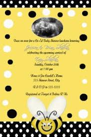 bee baby shower black white yellow bumble bee baby shower invitation