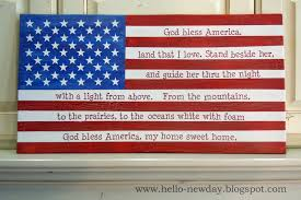 hello new day better late than never 4th of july painted flag