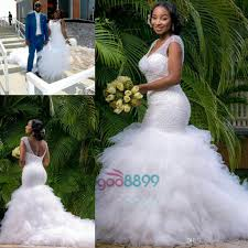 african country mermaid cathedral train wedding dresses 2017