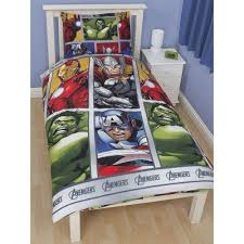 Marvel Bedding Childrens Kids Marvel Avengers Assemble Reversible Quilt Duvet