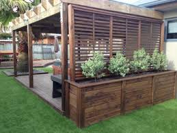 Deck With Pergola by This Planter Is Perfect For Privacy Round A Spa Box Is 740mm H