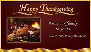 happy thanksgiving from miracle mile harley davidson