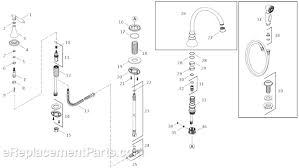 kohler kitchen faucet parts kohler k 377 4m parts list and diagram ereplacementparts com
