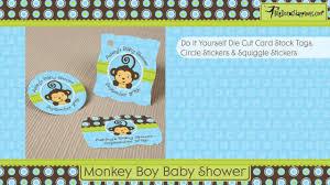monkey boy baby shower invitations themesflip com