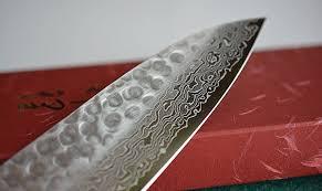 Japanese Damascus Kitchen Knives Japanese Kitchen Knife Gyuto Wa Damascus Zen Pou 215mm