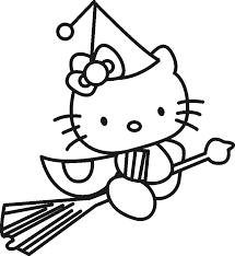 witch coloring pages hello kitty coloringstar