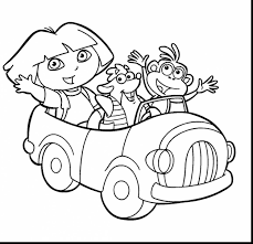 unbelievable dora coloring pages with dora coloring page