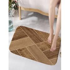 geometric wood printed nonslip area rug w16 inch l24 inch