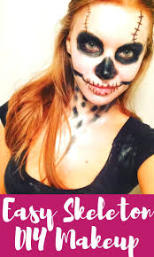 easy skeleton makeup for