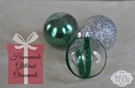 easy glitter christmas ornaments my suburban kitchen