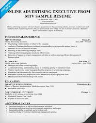 Advertising Account Executive Resume Online Advertising Executive Mtv Resume Example Resumecompanion