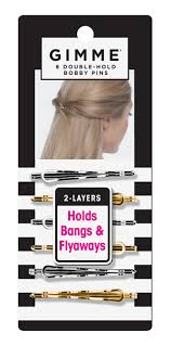 bobby pins gimme hold silver and gold bobby pins 6pc gimmeboutique