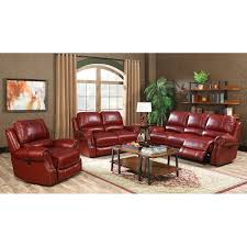 red living room set walker red 3 piece top grain leather power reclining living room set