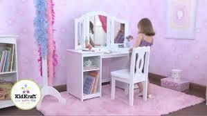 Toy Vanities Kidkraft Deluxe Vanity U0026 Chair Walmart Com