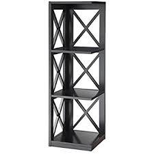 amazon com convenience concepts oxford 5 tier corner bookcase