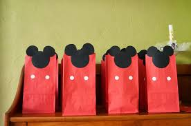 mickey mouse favor bags mickey mouse clubhouse birthday party decorations