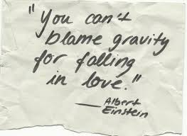 wedding quotes einstein you can t blame gravity for falling in albert einstein