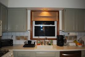 Kitchen Cabinet Valance by Inspiring Kitchen Window Treatments With Brown Over Valance