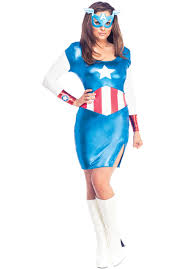 Marvel Halloween Costume C707 Captain America Dream Marvel Licensed Fancy Dress Ladies