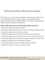 Administrative Officer Sample Resume by Top8documentationofficerresumesamples 150515025919 Lva1 App6891 Thumbnail 4 Jpg Cb U003d1431658809