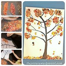 colored oats fall tree craft u2013 the pinterested parent