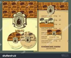 design set contains templates business card stock vector 285798026