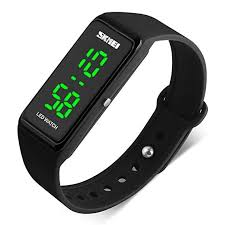silicone bracelet watches images Skmei led sport digital wrist watch 50m waterproof for jpg