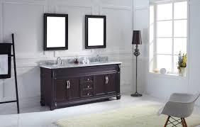virtu usa victoria 72 double bathroom vanity set in espresso