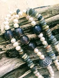white pearl beaded necklace images Long pearl necklace long boho horn necklace pearl tusk necklace JPG