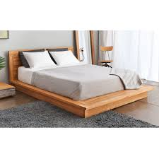Wood Bed Platform Wood Platform Bed With Headboard Beds Design Pinterest